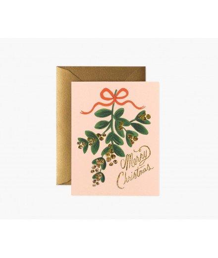 Carte de Noël - Ruban de Gui (LM)