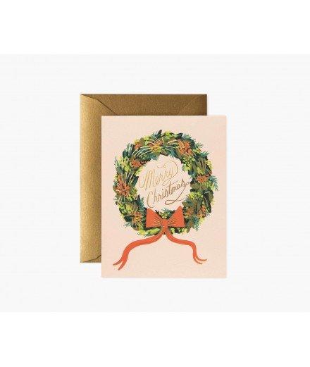 Carte de Noël - Merry Christmas Couronne (LM)