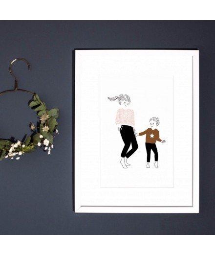 Affiche A4 Danse Garçon (à faire)