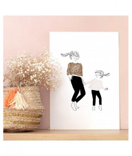Affiche A4 - Danse Fille