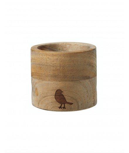 Coquetier en bois et sa cuillère - Oiseau