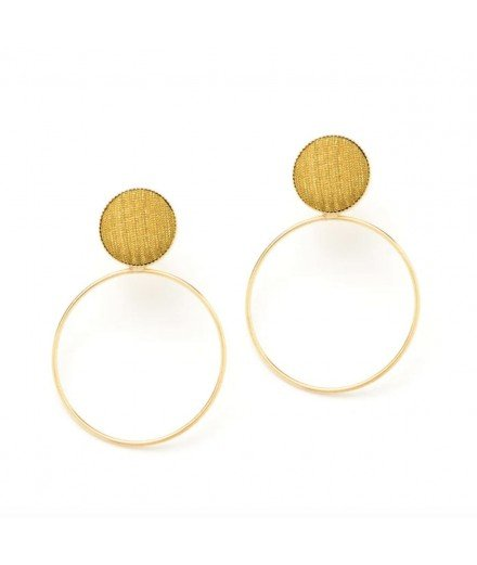 Boucles d'oreille céleste M - Moutarde
