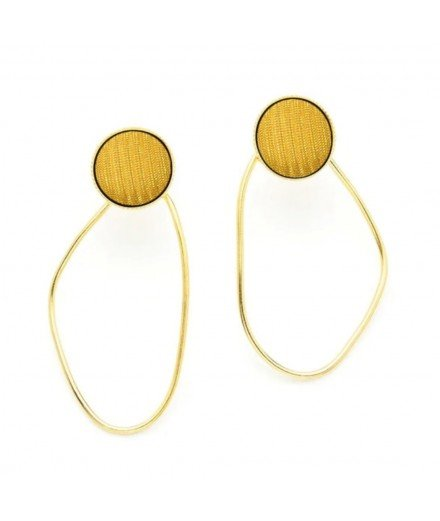 Boucles d'oreille Elia - Moutarde