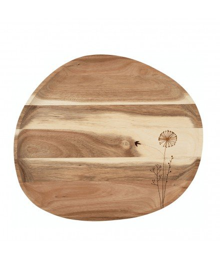 Grand plateau en bois d'acacia - Pissenlit