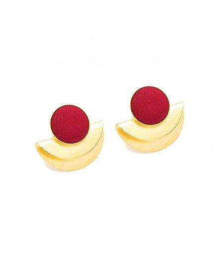 Boucles d'oreilles Cleo - Framboise
