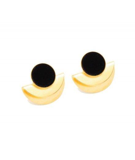 Boucles d'oreilles Cleo - Noir Animal