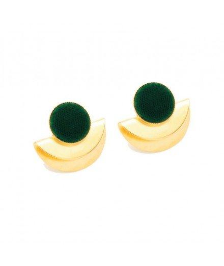 Boucles d'oreilles Cleo - Vert Impérial