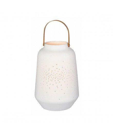 Lanterne en céramique - Plumetis