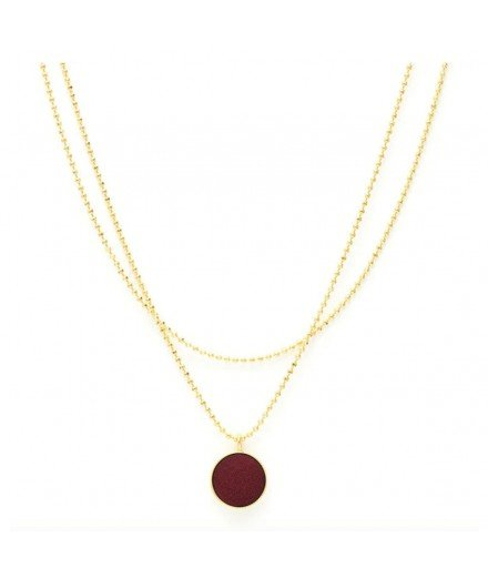 Collier double Céleste - Prune