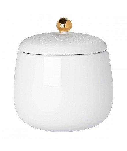Boite en céramique bouton doré - Medium