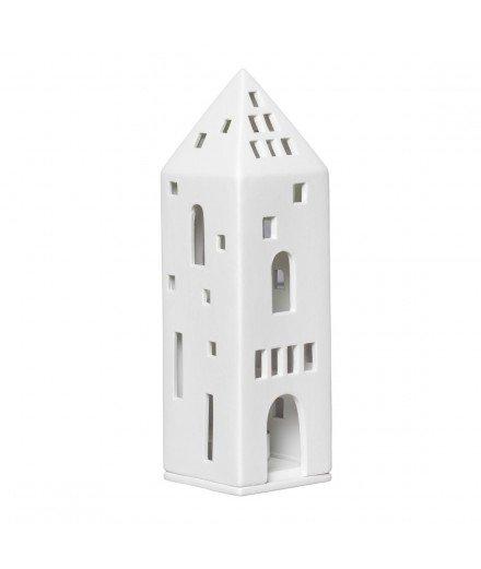 Photophore en céramique - Grande maison tour