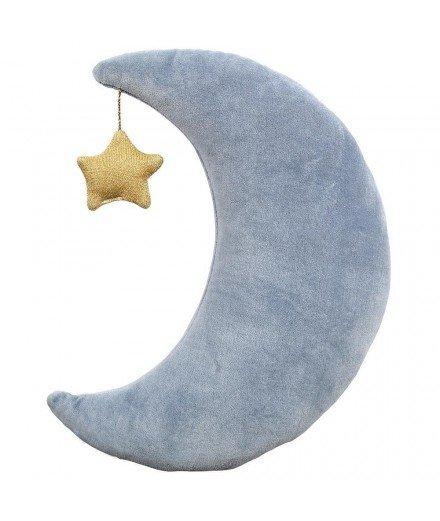 Coussin en velours - Lune