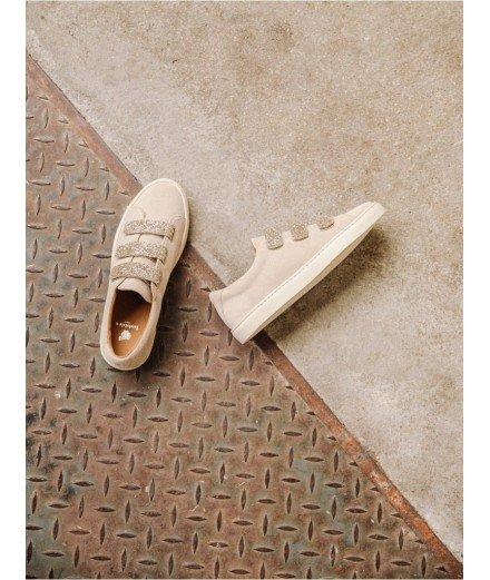 Sneakers La Scotchée - Sable de Lune et paillettes