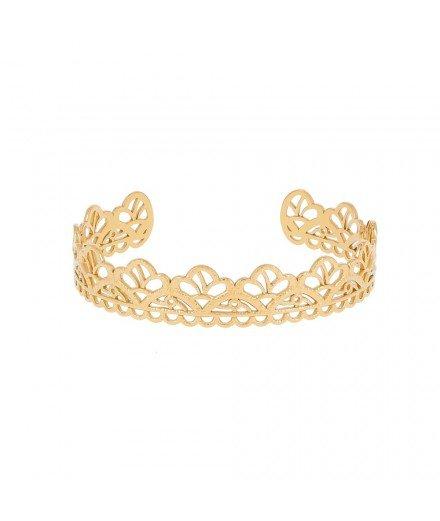 Bracelet Jonc Couronne - Acier inoxydable