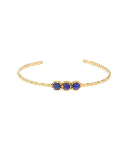 Bracelet Jonc Vintage 3 pierres (3 coloris disponibles)