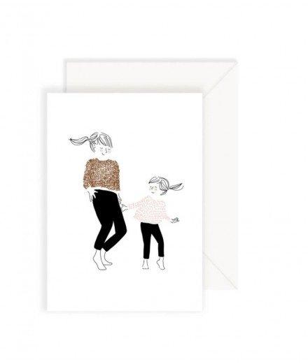 Carte postale - Danse Fille