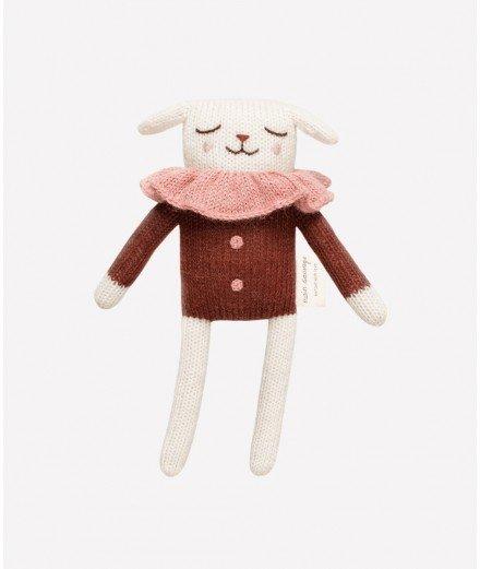 Doudou agneau - blouse sienne