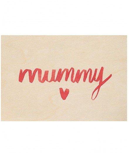 Carte postale en bois - Mummy