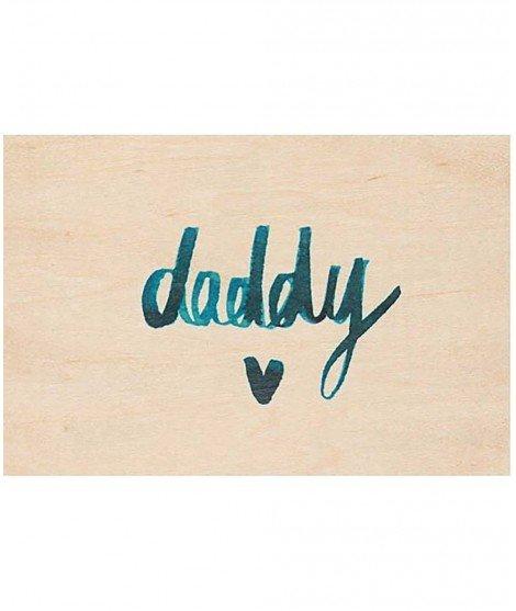 Carte postale en bois - Daddy (LM)