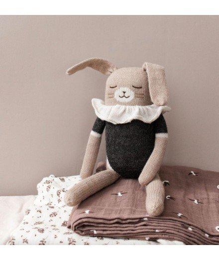 Grand doudou lapin - maillot noir