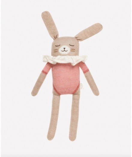 Grand doudou lapin - maillot rose (LM)