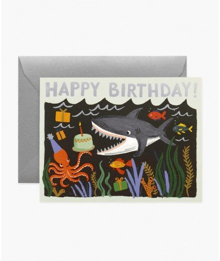 "Carte ""Happy Birthday"" Requin (en cours)"