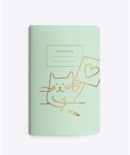 Carnet Cat artist - Vert menthe