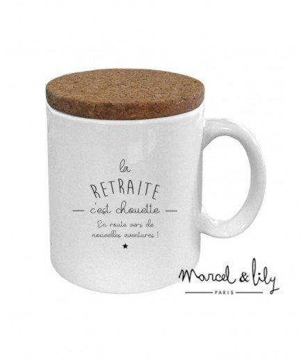 """Mug """"La retraite c'est chouette"""""""