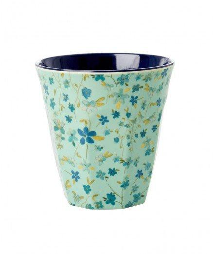 Gobelet médium en mélamine - Blue floral