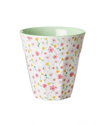 Gobelet médium en mélamine - Fleurs de Pâques