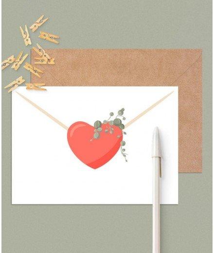 Carte postal - lettre d'amour