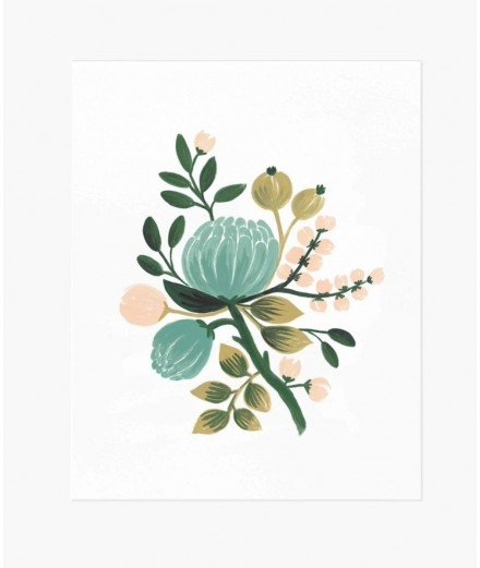 Affiche fleurie - Blue Botanical