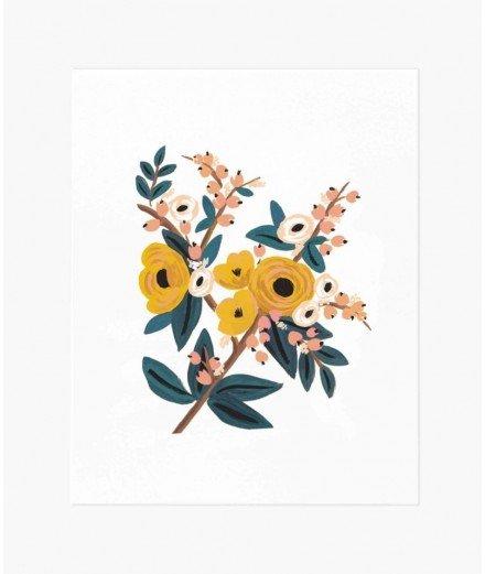 Affiche fleurie - Marigold (LM stock vannes)