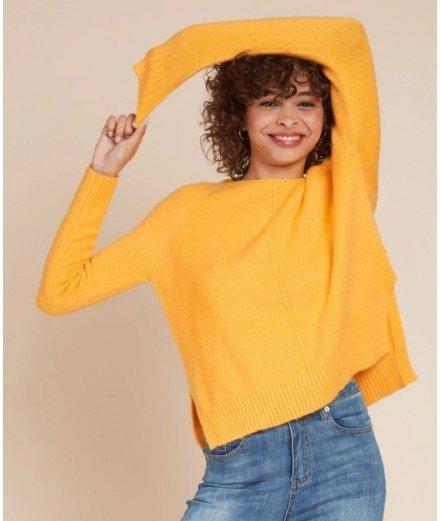 Pull parisienne - jaune