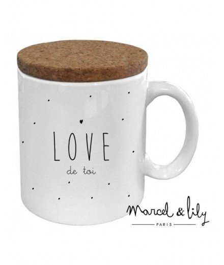 "Mug "" Love de toi "" - Marcel et Lily (malo)"
