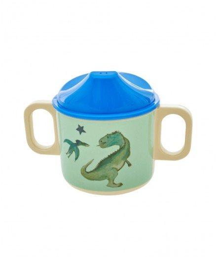 Verre à bec en mélamine - Dinosaure
