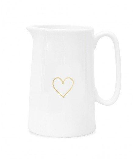 Cruche en porcelaine - Coeur