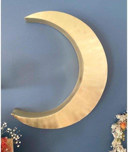 Lune murale en laiton doré - Grande (Lm vannes)