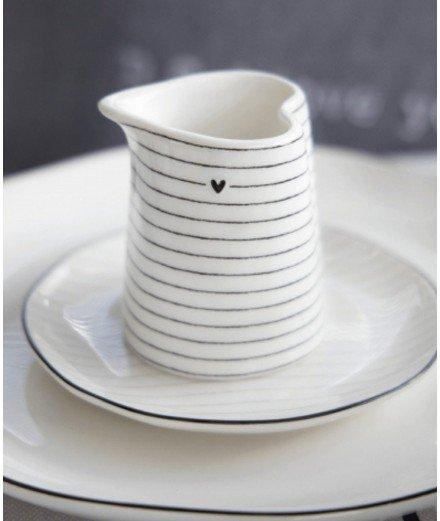 Mini pichet en porcelaine - Coeur noir