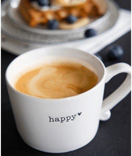 Mug en porcelaine - Happy