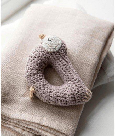 Hochet en tricot - oiseau