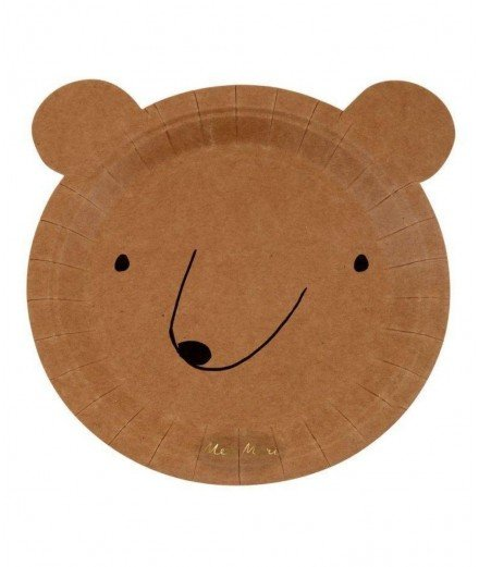 8 petites assiettes - ours brun (malo)
