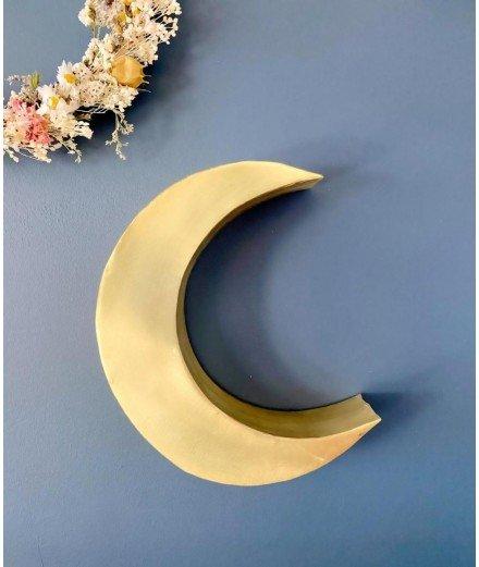 Lune murale en laiton doré - Petite (Lm vannes)