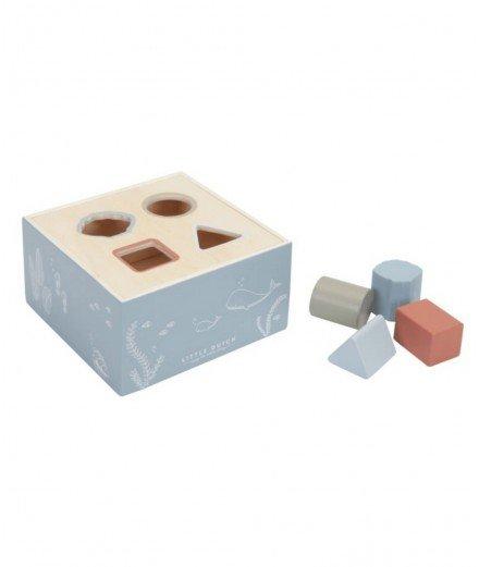 Boîte à formes en bois - Océan