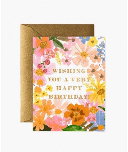 Carte d'anniversaire - Marguerite