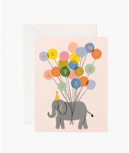 Carte de naissance - Eléphant