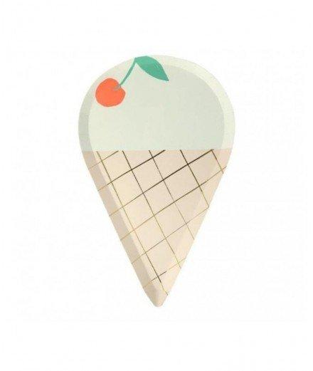 8 assiettes - glace (malo)