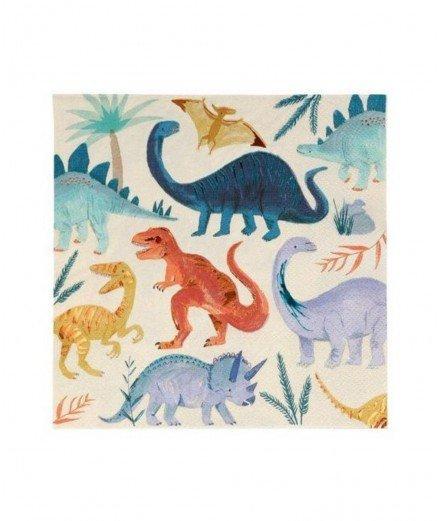 16 serviettes en papier - dinosaure (malo)