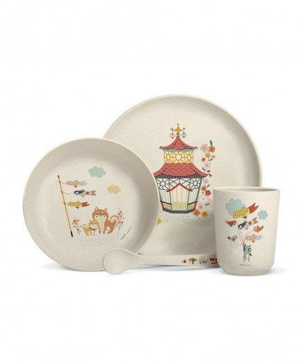 Set de vaisselle en bambou - Tokyo et Pekin (a faire)