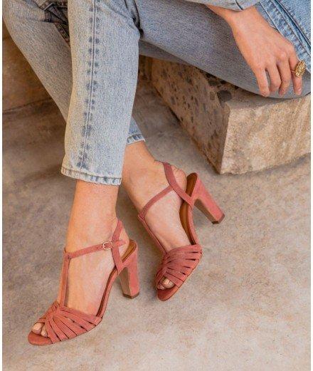 Sandale à Talon Daisy - Vieux Rose